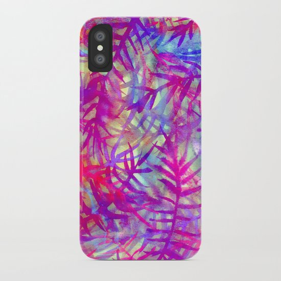 Electric Palms - Pink iPhone Case