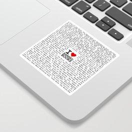 I Heart Banned Books Sticker