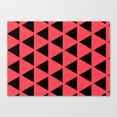 Sleyer Black on Pink Pattern Canvas Print