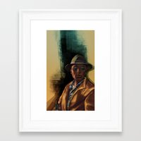 grand theft auto Framed Art Prints featuring Grand Theft Auto Online Characters - The Lazy of The Damned by W.Flemming