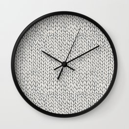 Hand Knit Grey Wall Clock