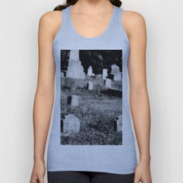 4x5 film photograph. Minimal edits and filters. It's part of the chemical process. Unisex Tank Top