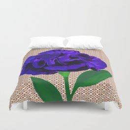 Bloomin' Violet Duvet Cover
