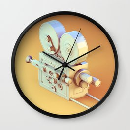 Low Poly Film Camera Wall Clock