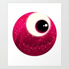 Red Dot Eye Art Print