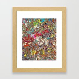 Abstract Acrylic Palette Knife painting Framed Art Print