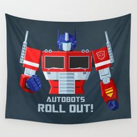 transformers Wall Tapestries featuring Autobots, Roll out! (Optimus Prime) by DWatson