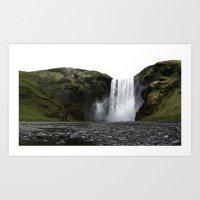 Skogafoss, Iceland. Art Print