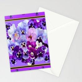 PANTENE PURPLE PANSY GARDEN   DECORATIVE ART DESIGN Stationery Cards