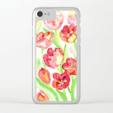 Mothers Day Tulips Clear iPhone Case