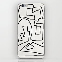 Abstract line art iPhone Skin