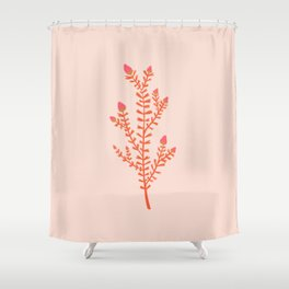 leaf hearts Shower Curtain