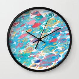 blue school Wall Clock