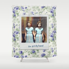 The greedy twins! Shower Curtain