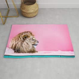Lion in the Bathtub Rug