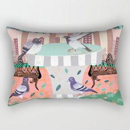 Pigeons in Central Park Rectangular Pillow