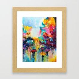 RAIN FALL DOWN Framed Art Print