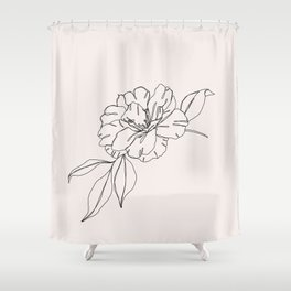 Tropical flower illustration - Mona I Shower Curtain