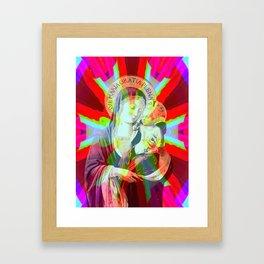 Iconography Madonna Pop Renaissance Framed Art Print