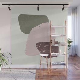 Rose modern organic shapes Wall Mural