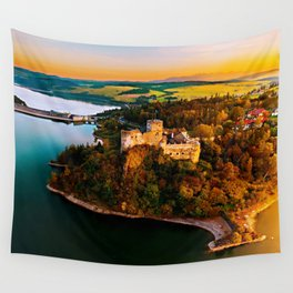 Nidzica Castle in Pieneny National Forest, Poland Wall Tapestry