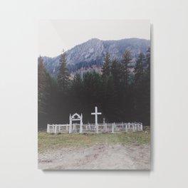 Graveyard in the Woods. Metal Print