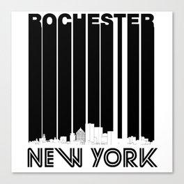 Retro Rochester New York Skyline Canvas Print