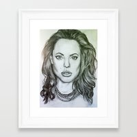 angelina jolie Framed Art Prints featuring Angelina Jolie by Kat Lyon