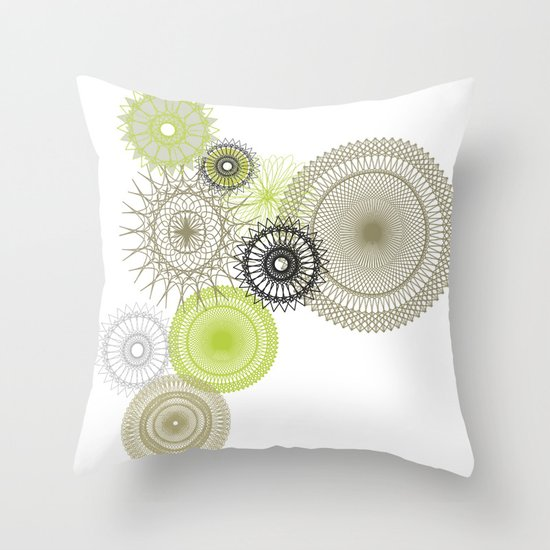 Modern Spiro Art #1 Throw Pillow