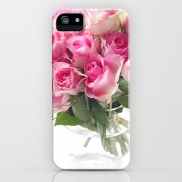 Pink Roses Bouquet iPhone Case