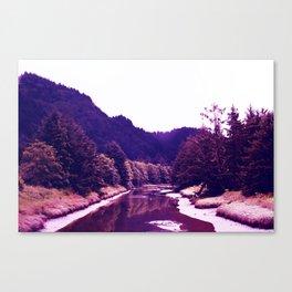 Oregon River | Vintage | Landscape Canvas Print
