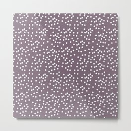 Purple Dot Metal Print