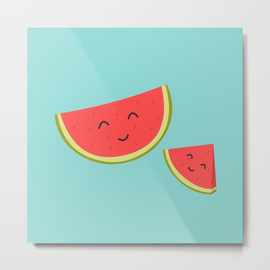 Happy Watermelon Metal Print