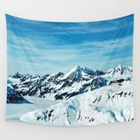 alaska Wall Tapestries featuring Alaska by Elise Giordano