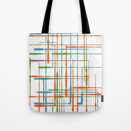 Abstract / Geometry - Colorful Terminal Tote Bag