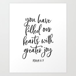 YOU HAVE FILLED OUR HEARTS by DearLilyMae Art Print