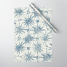 hachure shibori blue Wrapping Paper
