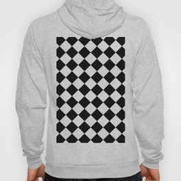 Contemporary Black & White Gingham Pattern - Mix and Match Hoody