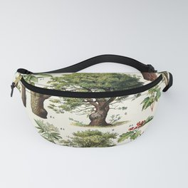 Adolphe Millot - Arbres A - French vintage botanical poster Fanny Pack
