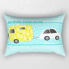 glamping in sun or rain Rectangular Pillow