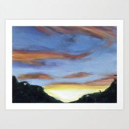 Sunset on the Road 2 Art Print