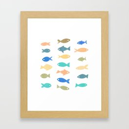 Colorful Fish Framed Art Print