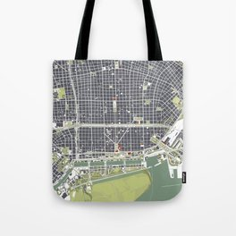 Buenos aires city map engraving Tote Bag