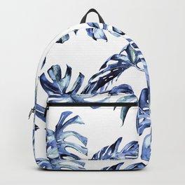 Blue Palm Leaves Backpack
