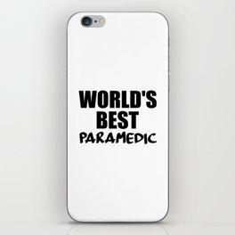 worlds best paramedic iPhone Skin