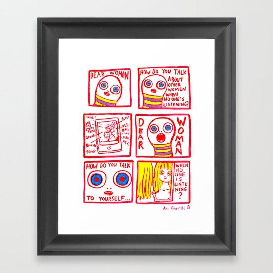 DEAR WOMAN Framed Art Print