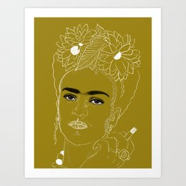 Smokin' Frida Art Print