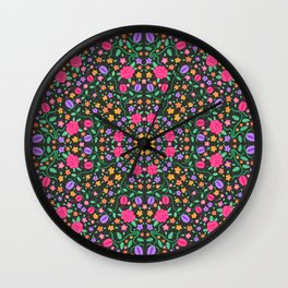 Flowers Forever Wall Clock