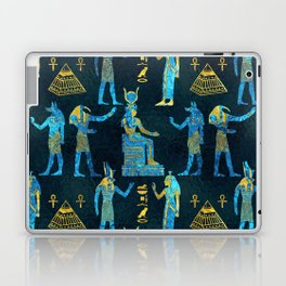 Egyptian  Gold and blue glass pattern Laptop & iPad Skin