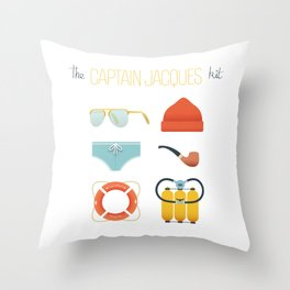 Captain Jacques 02 Throw Pillow